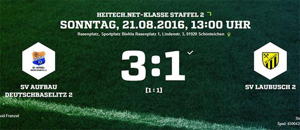 2. Spieltag | 2. Männermannschaft | Unnötige Niederlage gegen Deutschbaselitz!