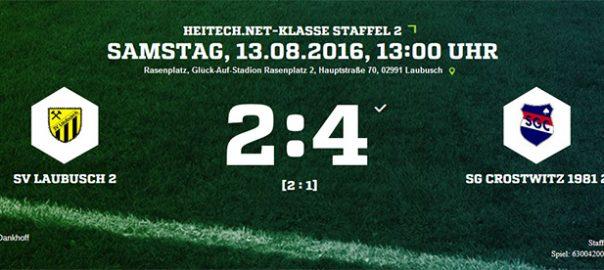 1. Spieltag | 2. Männermannschaft | SV Laubusch II – SG Crostwitz 1981 II   2:4