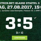3. Spieltag | 2. Männermannschaft | Derbysieg FSV Lauta II – SV Laubusch II 3:5